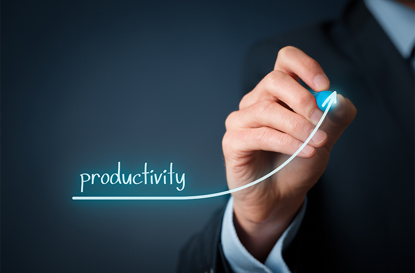 Productivity goes up